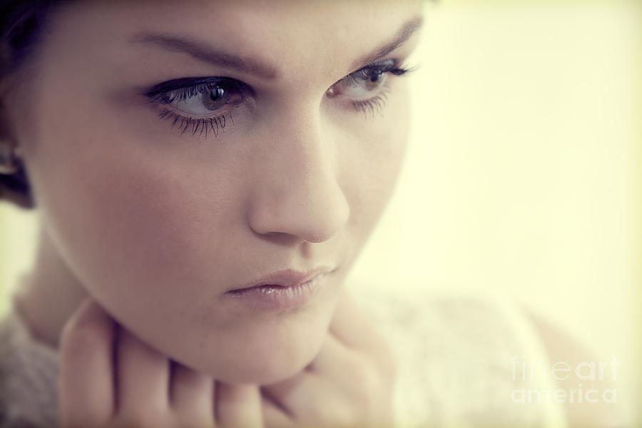 Sexy Photograph - Young Elegant Woman In Glamour Fashion by Michal Bednarek
