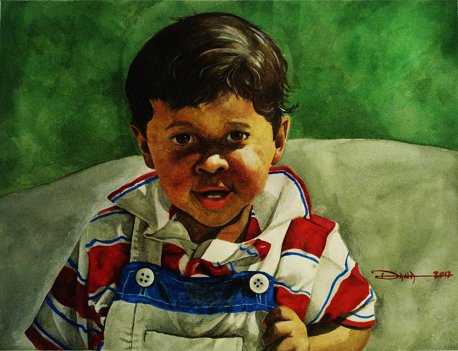 Portraits Painting - young Giovanni by Dana Newman
