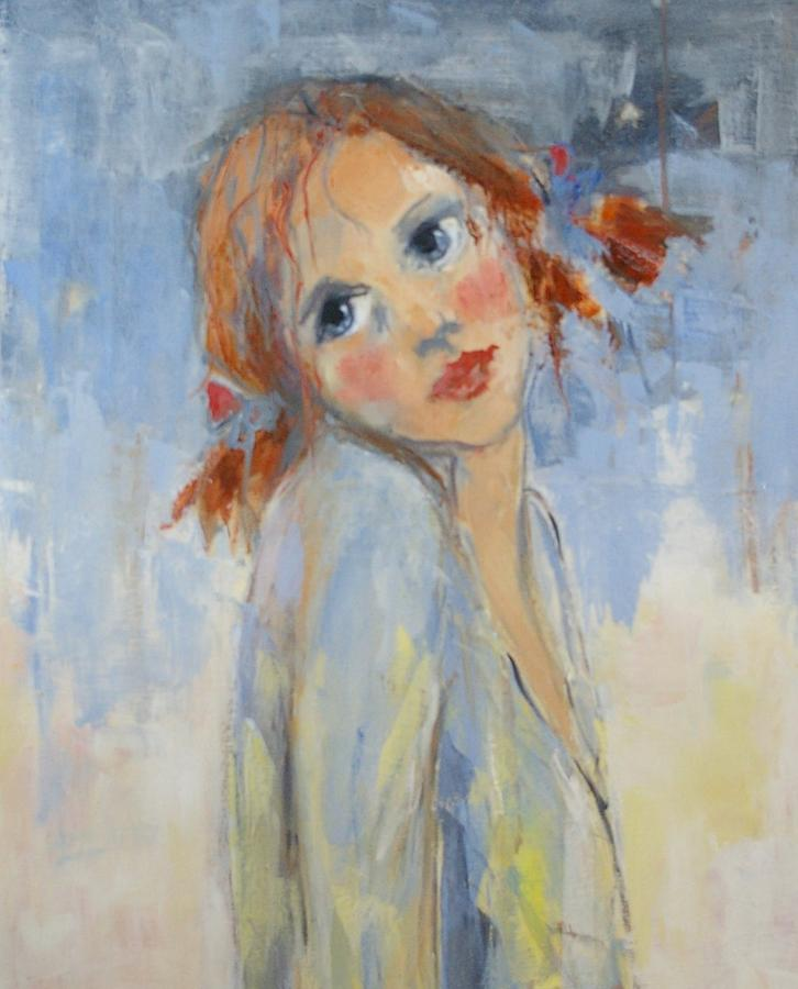 Young Painting - Young Girl by Lisbeth Courcambeck