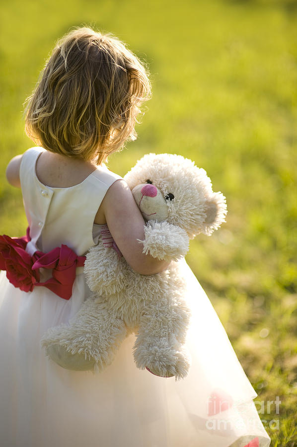 Young Girl With White Teddy Bear Photograph by Lee AvisonLittle Girl With Teddy Bear Black And White