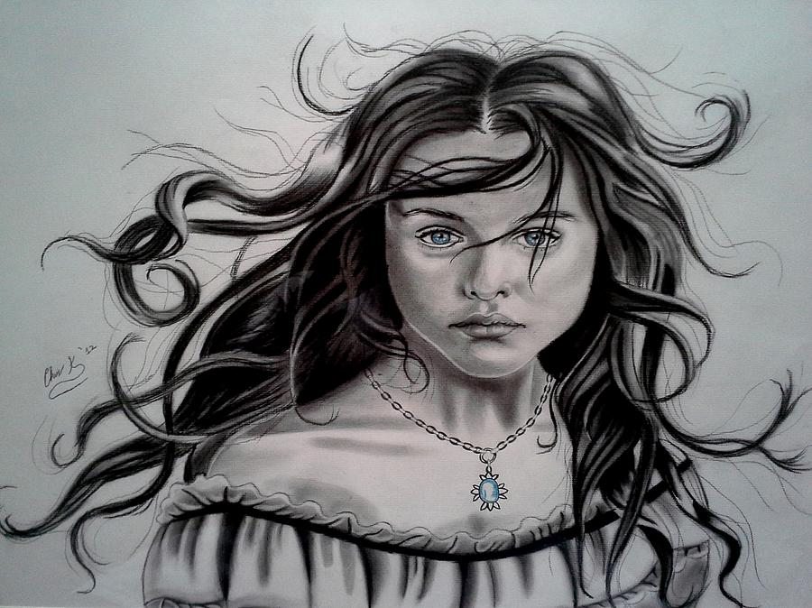 Portrait Drawing - Young Heart Old Spirit by Christopher Kyle