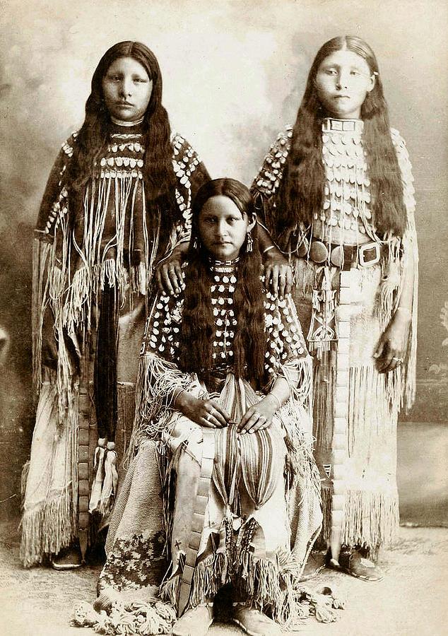 Young Kiowa Belles 1898 Photograph - Young Kiowa Belles 1898 by Unknown