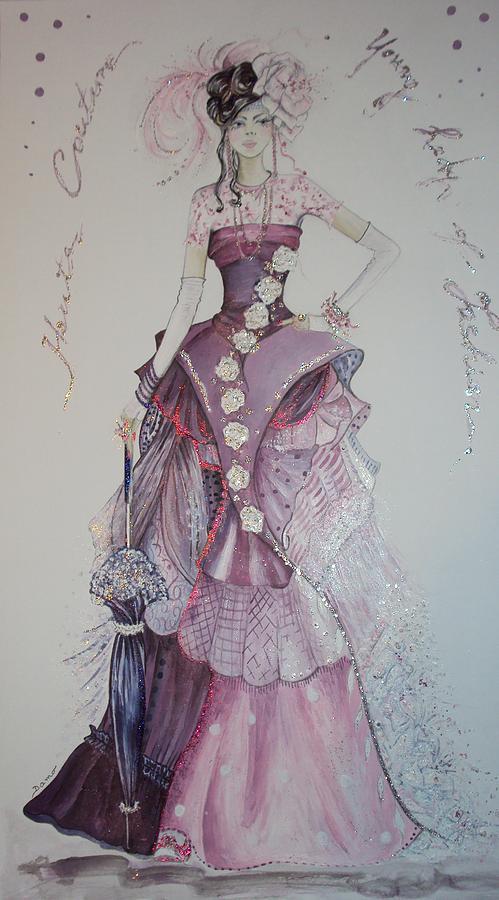 Young Lady Drawing by Damira Fuzul