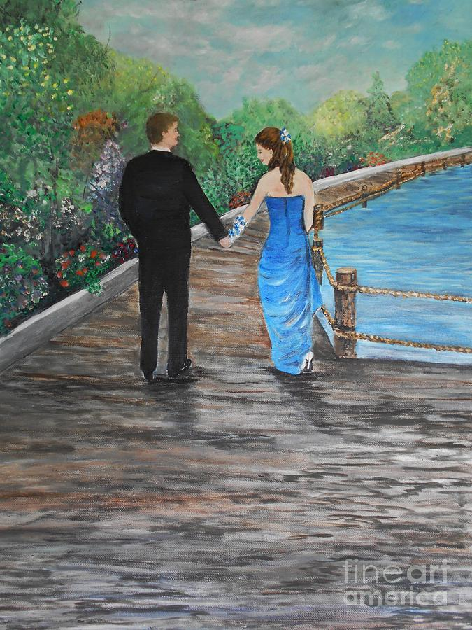 Painting Painting - Young Love by Rhonda Lee