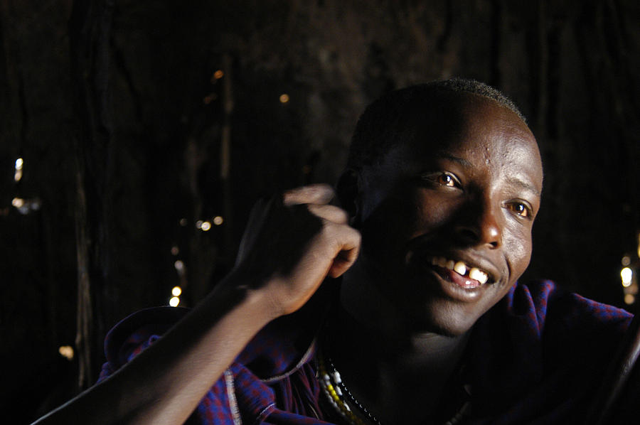 Activities Photograph - Young Maasai Warrior In The Village by Jake Norton