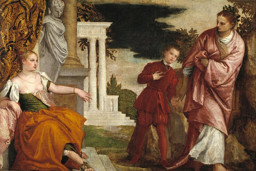 1581 Painting - Young Man Between Vice And Virtue by Paolo Veronese