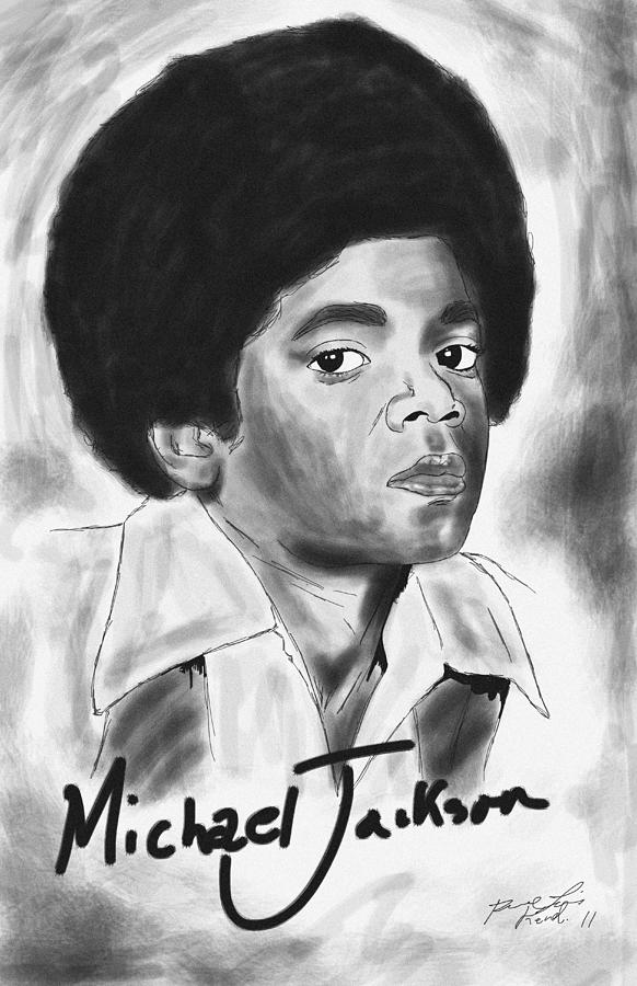 Young Michael Jackson Drawing - Young Michael Jackson by Kenal Louis