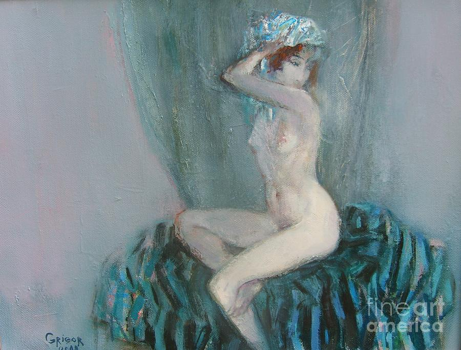 Nude Painting - Young Model  by Grigor Malinov