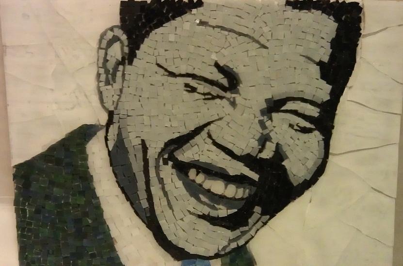 Young Nelson Mandela Mixed Media by Dalene Smit