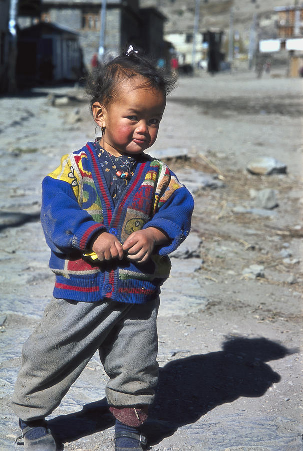 Nepal Photograph - Young Nepalese Girl In Manang by Richard Berry