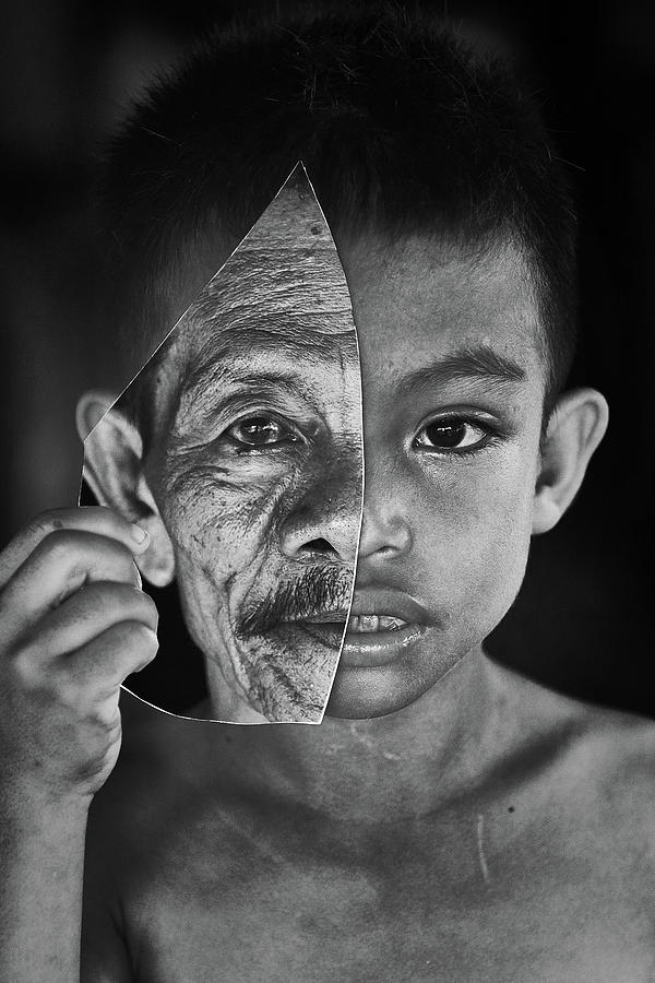 Portrait Photograph - Young Or Old by Amaluddin