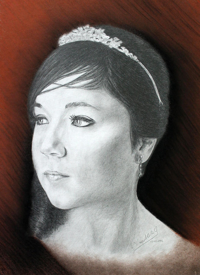 Young Princess Finished Drawing by Miguel Rodriguez