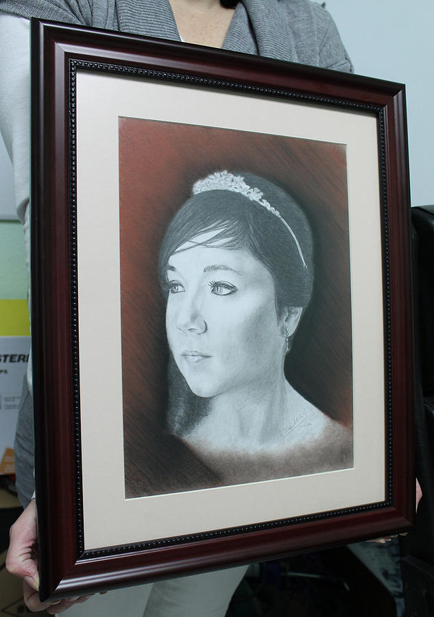 Young Princess Framed Drawing by Miguel Rodriguez