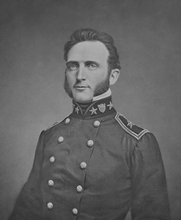 Stonewall Jackson Photograph - Young Stonewall Jackson  by War Is Hell Store