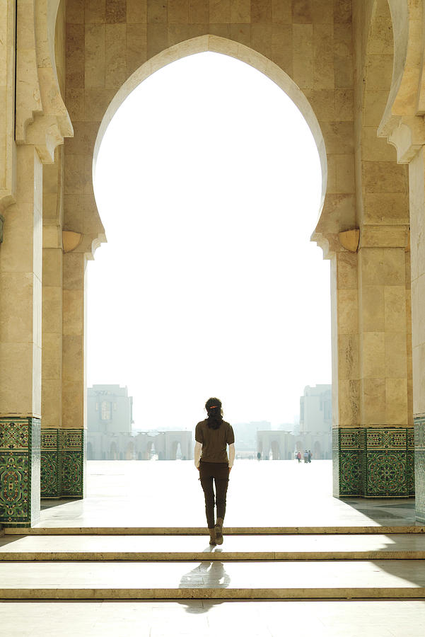 Young Woman At Mosque Gate Photograph by Rafael Elias