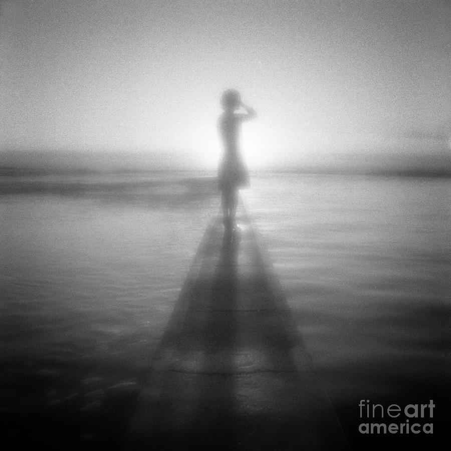 Australia Photograph - Young Woman By Pool At Sunrise by Colin and Linda McKie