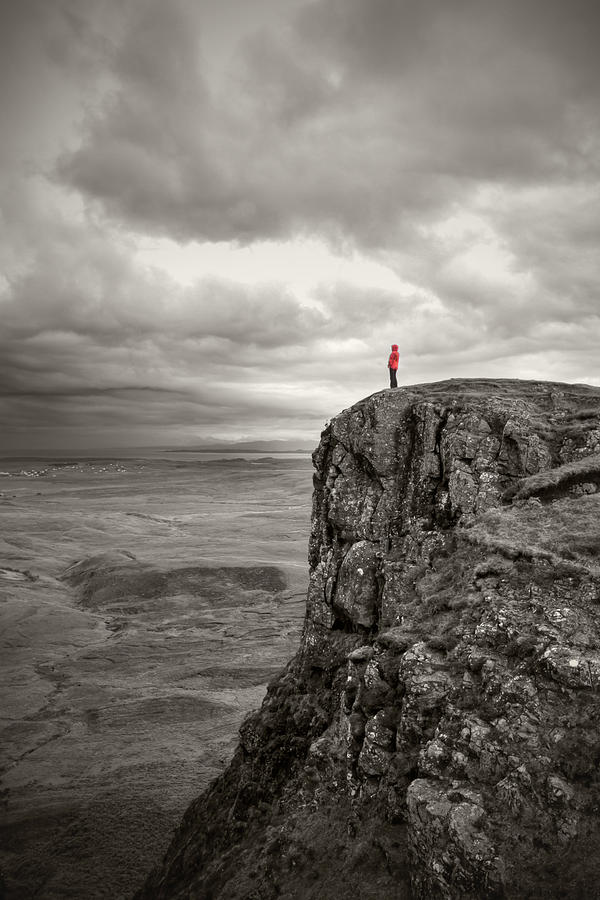 Standing On Cliff Edge Drawing