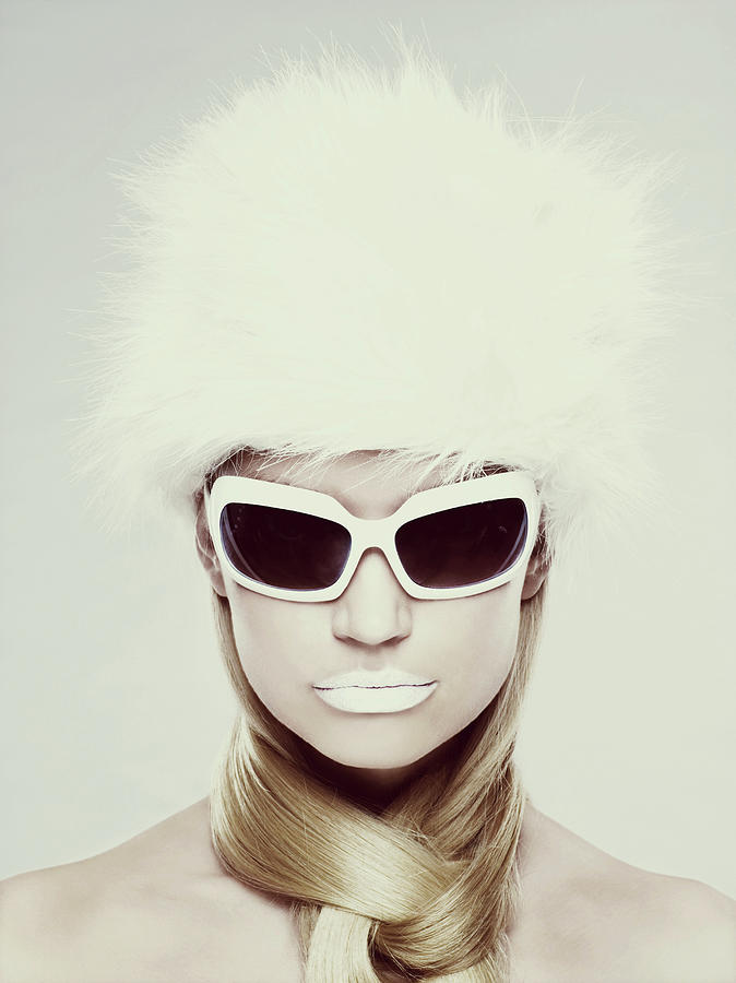 Young Woman Wearing White Sunglasses Photograph by Image Source