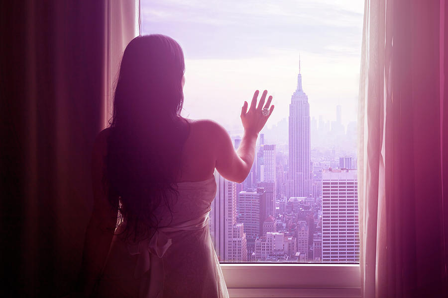 Young Woman With Hand On Window And New Photograph by Flavia Morlachetti