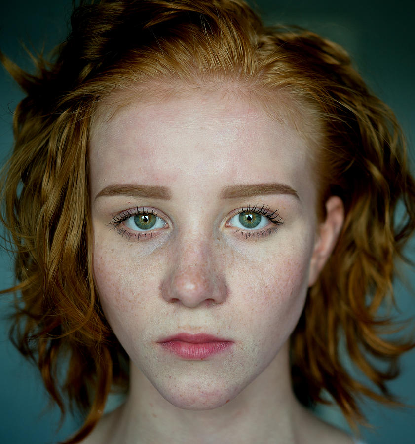 Young woman with red hair Photograph by RusN