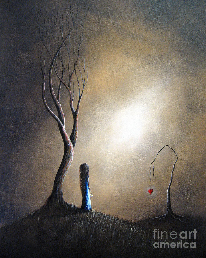 Surreal Painting - Your Memory Lives On In Me By Shawna Erback by Shawna Erback