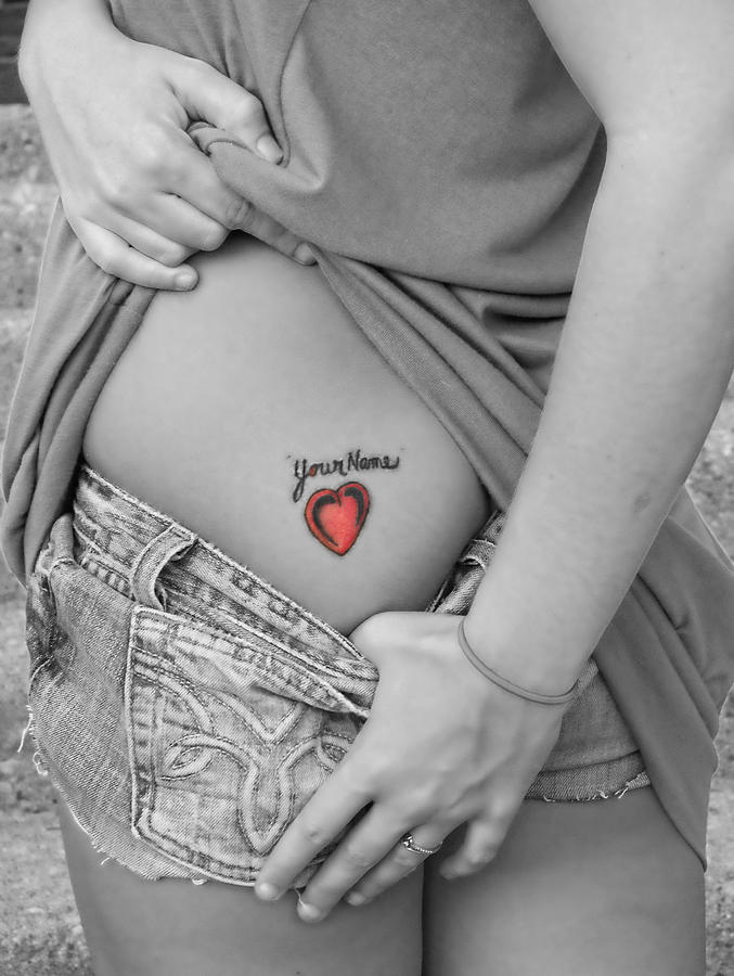Tattoos Photograph - Your Name by Kristie  Bonnewell