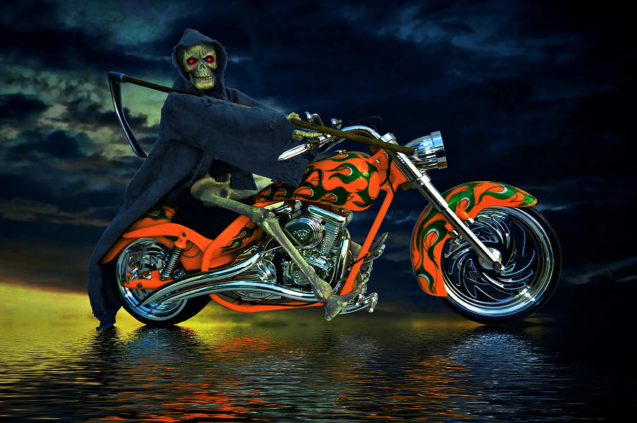 Reaper Photograph - Your Ride Awaits by Steven Agius