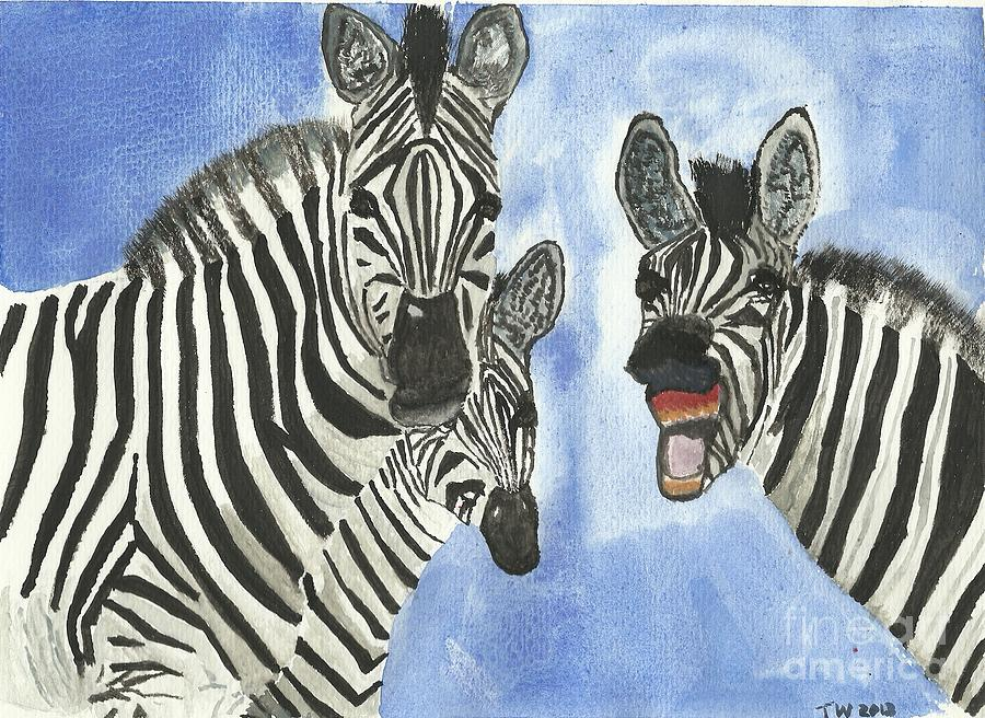 Zebra Painting - Your So Funny by Tracey Williams