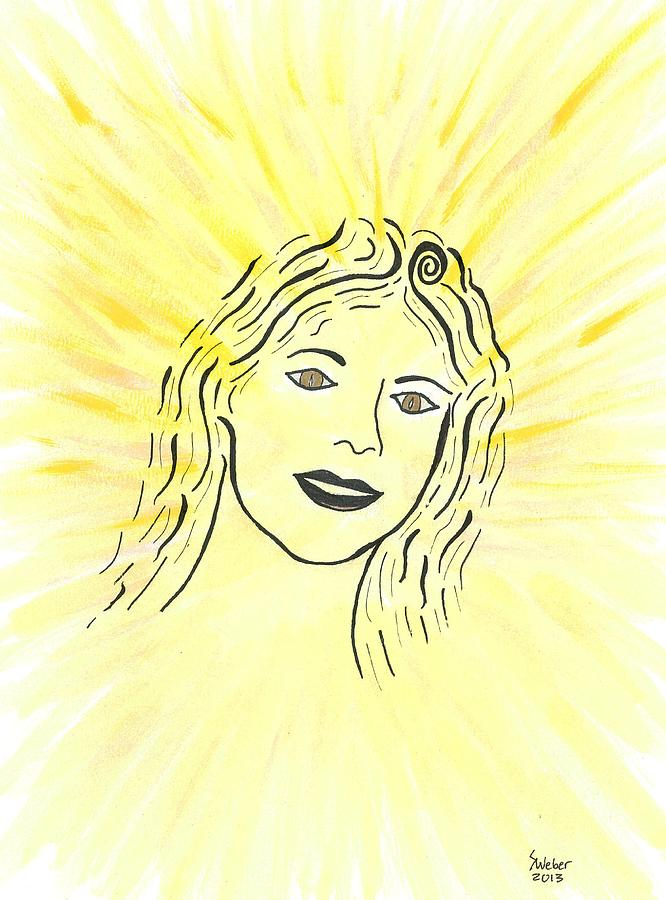 Spirit Painting - Your Spirit Shines On by Susie WEBER