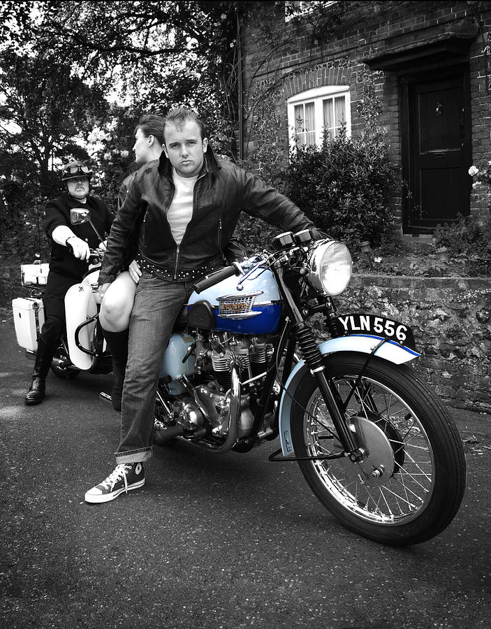 Triumph Motorcycle Photograph - Youre Nicked by Mark Rogan