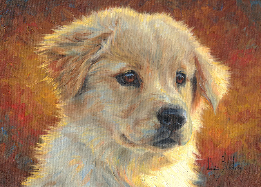 Dog Painting - Youth by Lucie Bilodeau