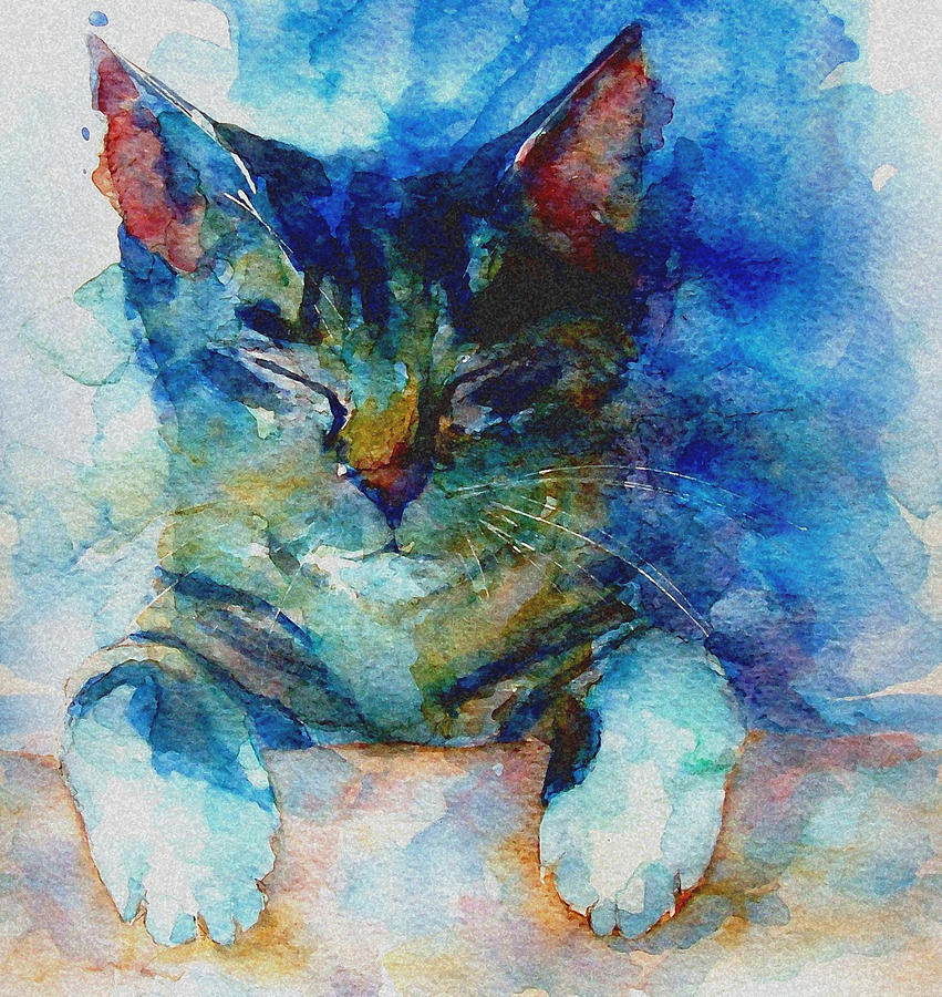 Cat Painting - Youve Got A Friend by Paul Lovering