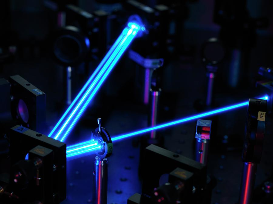 Machine Photograph - Ytterbium Optical Clock Laser by Andrew Brookes, National Physical Laboratory