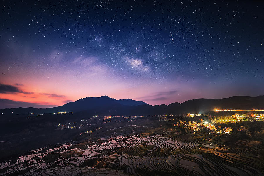 Yuanyang Rice Terrace, Yunnan, China Photograph by Kaicheng Xu,landscape and architecture photographer