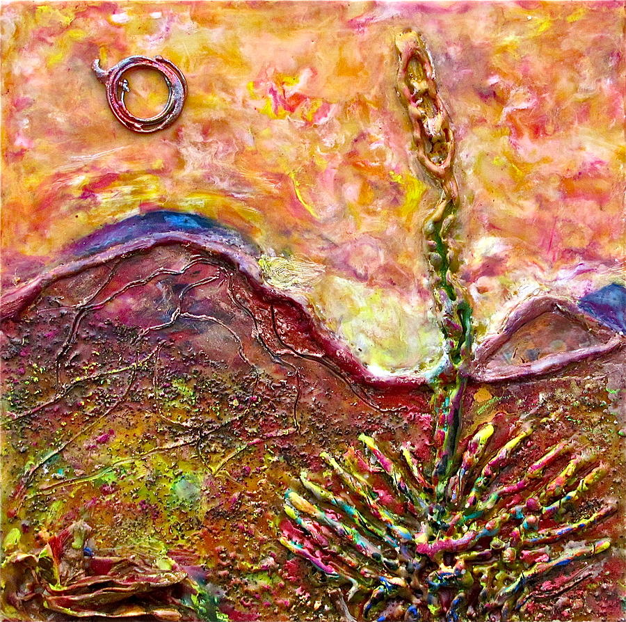 Yucca Painting - Yucca Cactus At Sunset by Joe Bourne