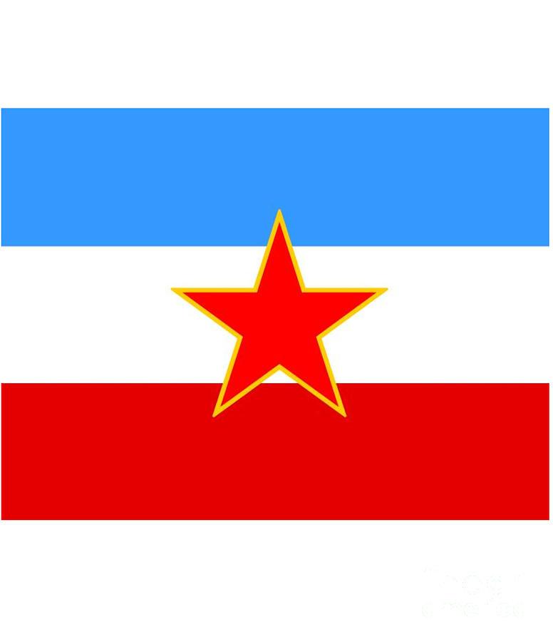 Yugoslavia Digital Art - Yugoslavia Flag by Frederick Holiday