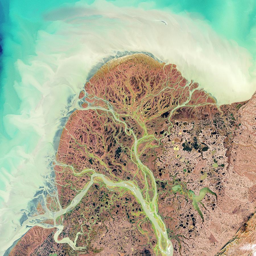 Kuskokwim Photograph - Yukon Delta by Nasa/science Photo Library