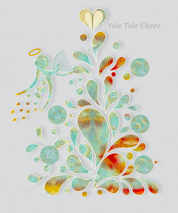 Angel Digital Art - Yule Tide Cheer by Gayle Odsather