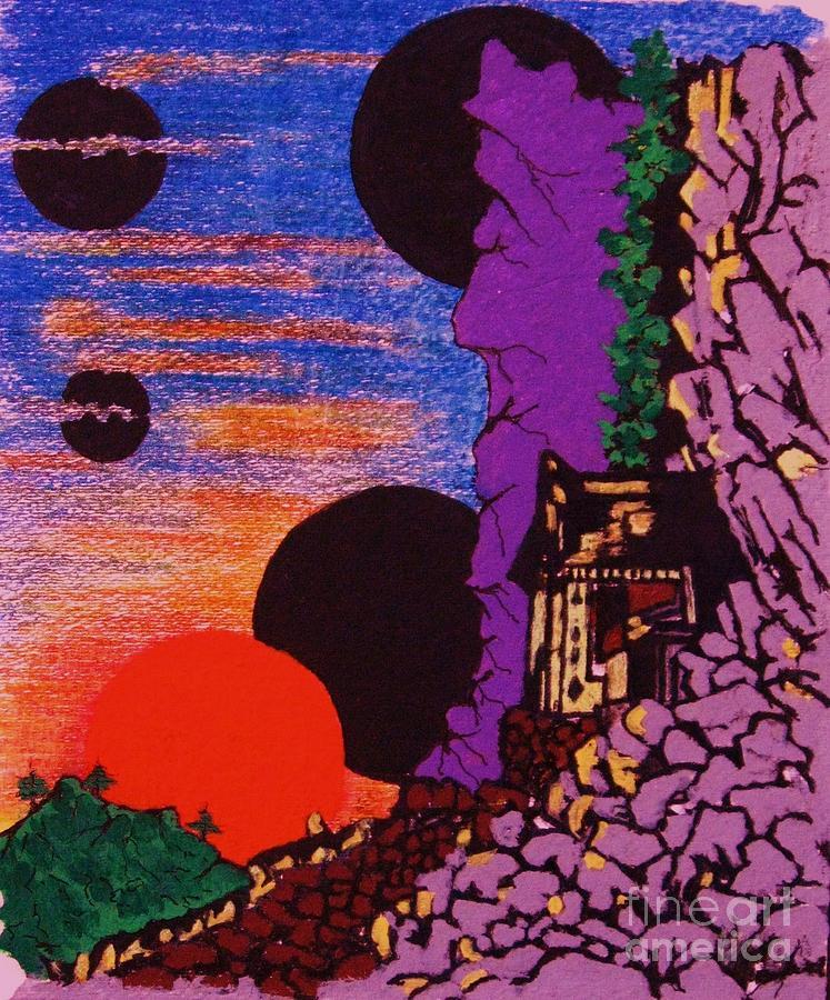 Landscape Painting - Yuyake Tsuka No Shutsu by Roberto Prusso