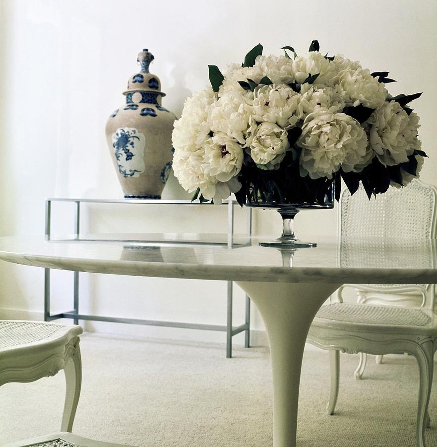 Paris Photograph - Yves Saint Laurents Dining Room by Horst P. Horst