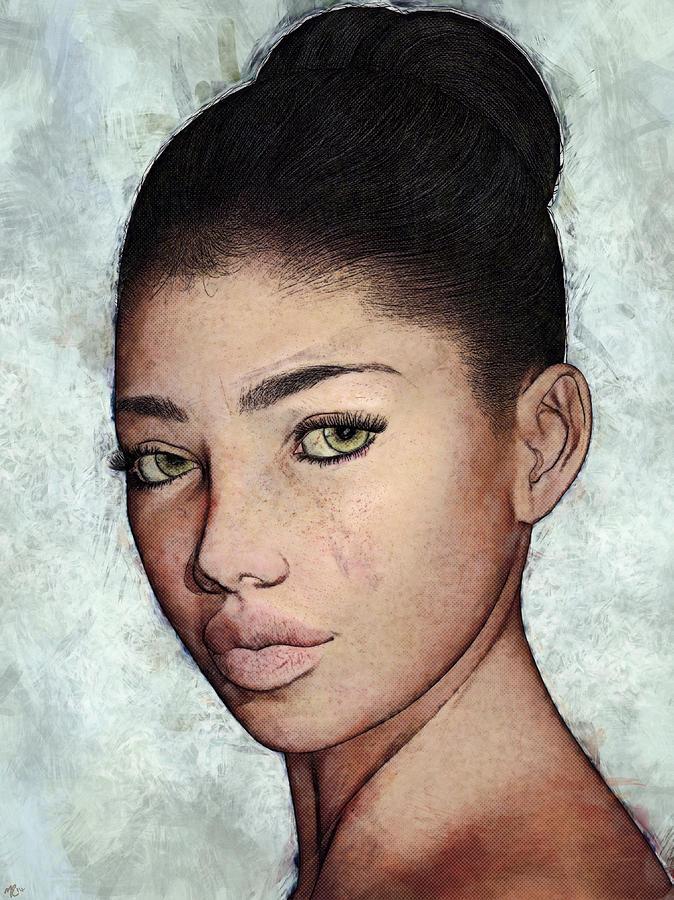 Yvette Portrait by Maynard Ellis
