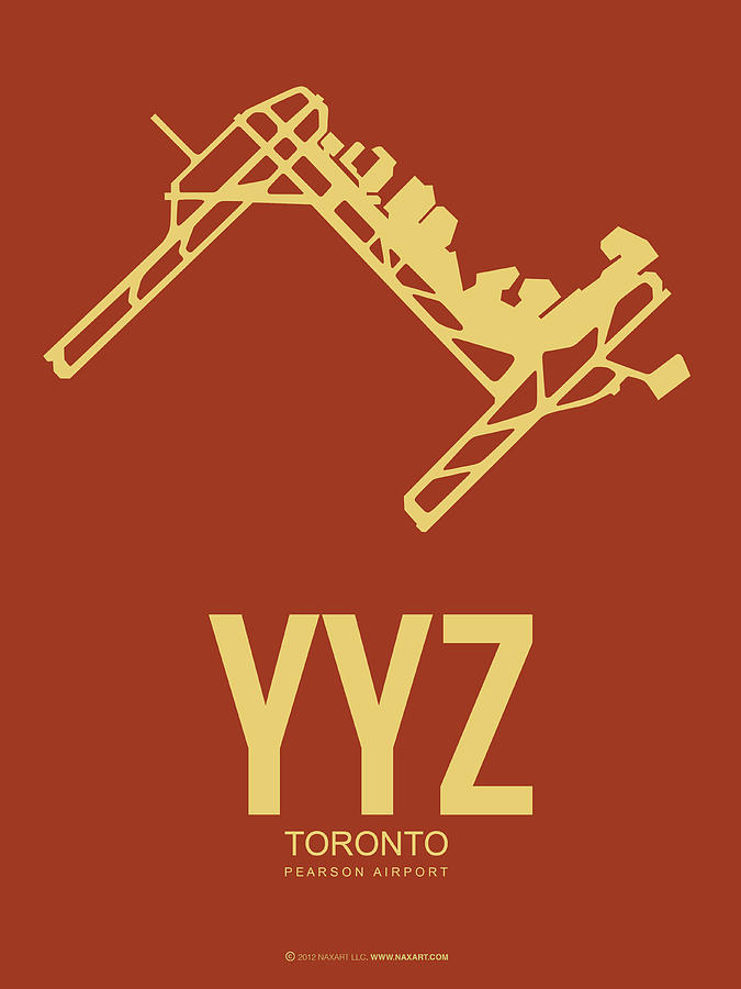 Toronto Digital Art - Yyz Toronto Airport Poster 3 by Naxart Studio