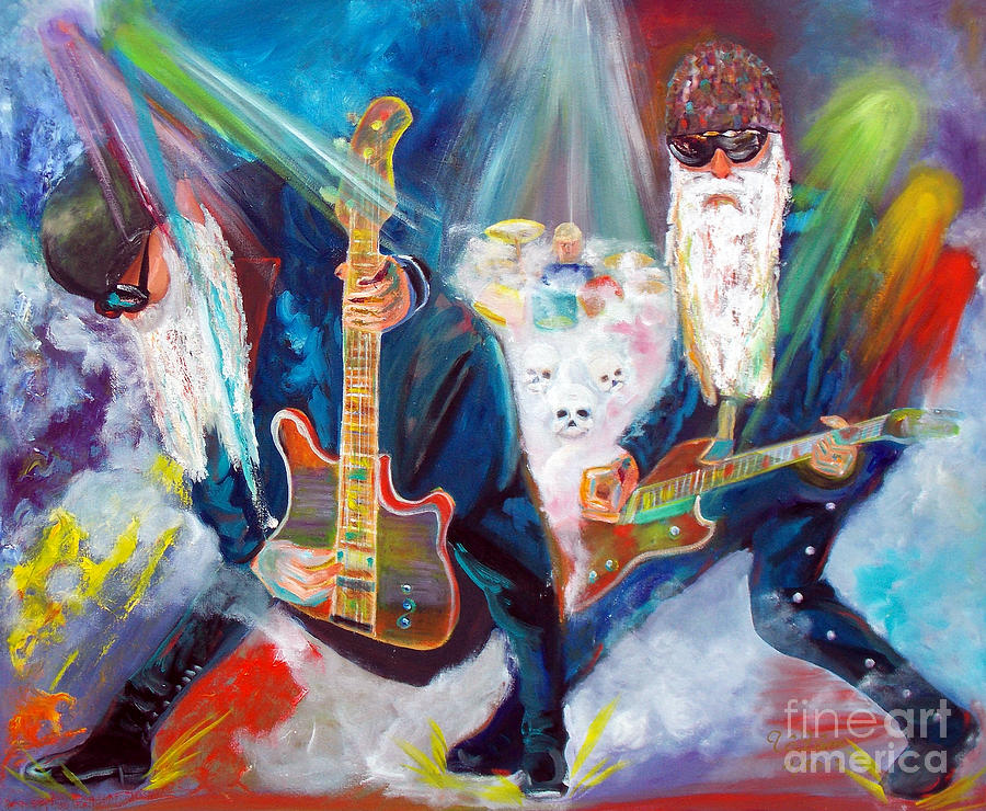Zz Top Painting - Z Z Top 4 by To-Tam Gerwe