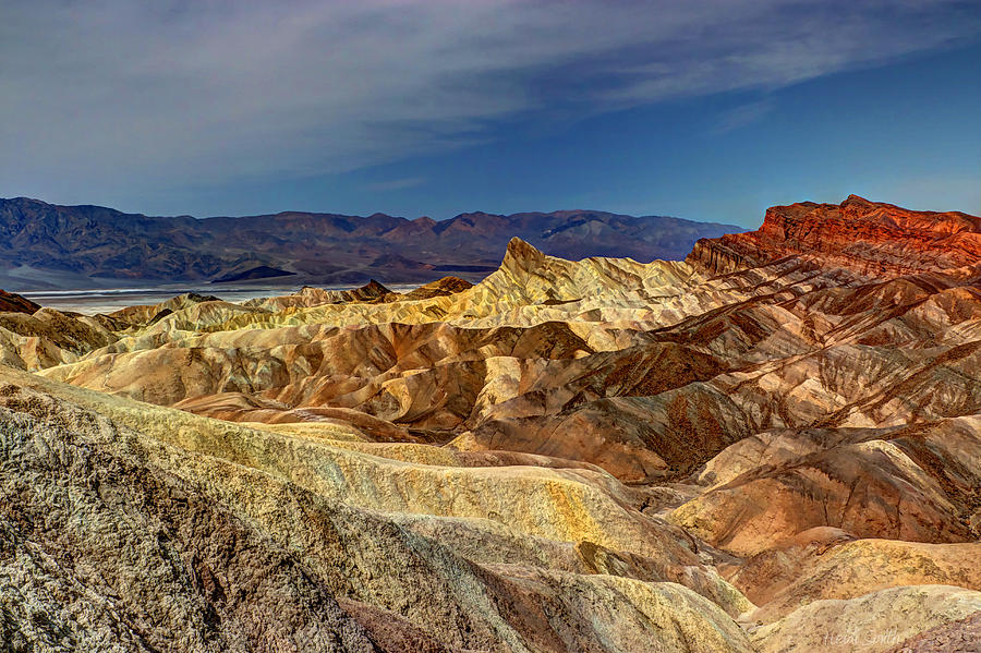 Abstract Photograph - Zabriskie Point by Heidi Smith