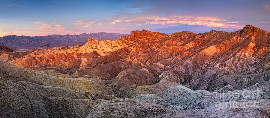 Death Valley Photograph - Zabriskie Point Pano by Timothy Hacker