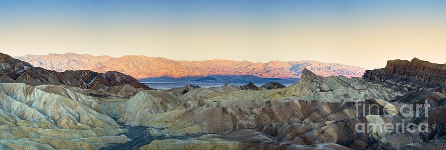 Valley Photograph - Zabriskie Point Panorana by Jane Rix