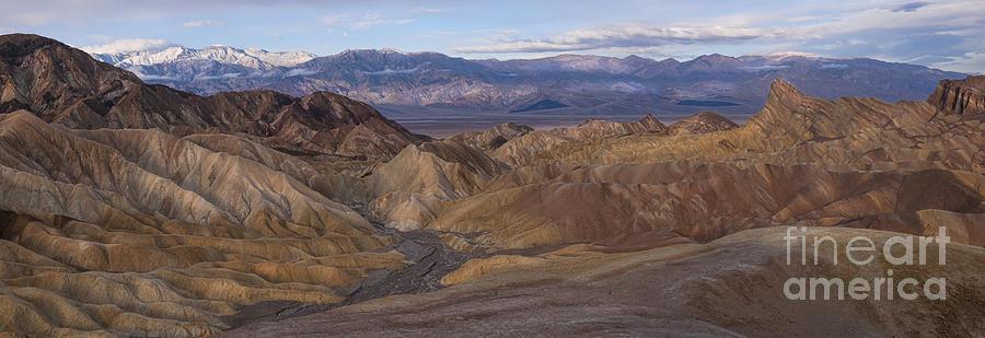 Panorama Photograph - Zabriskie Point Sunrise - Death Valley National Park by Sandra Bronstein