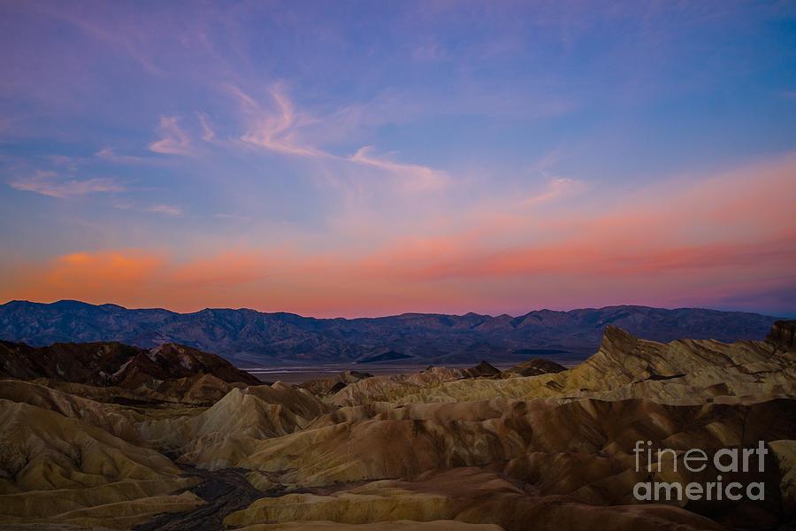 2013 Photograph - Zabriskie Point Sunrise by Joan Wallner
