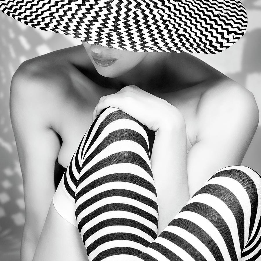 Stripes Photograph - Zagging That Zig by Howard Ashton-jones