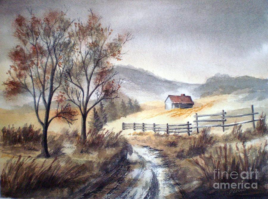 Landscape Painting - Zagorski Puteljak by Eleonora Perlic